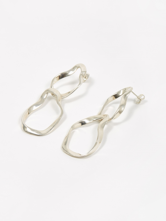 AGMES Small Viviane Earrings - Sterling Silver (Image 1)