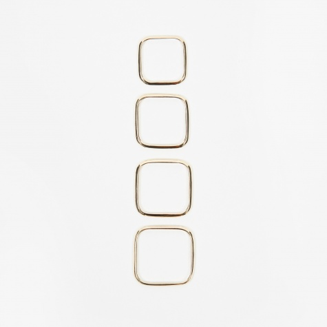 Square Ring (Set Of Four) - 10K Gold