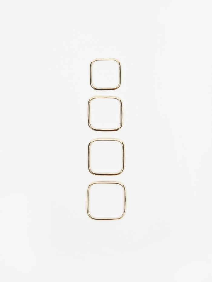 Oljei Square Ring (Set Of Four) - 10K Gold (Image 1)