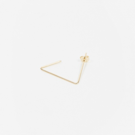 Triangle Mini 1/2 Earring - 10K Gold