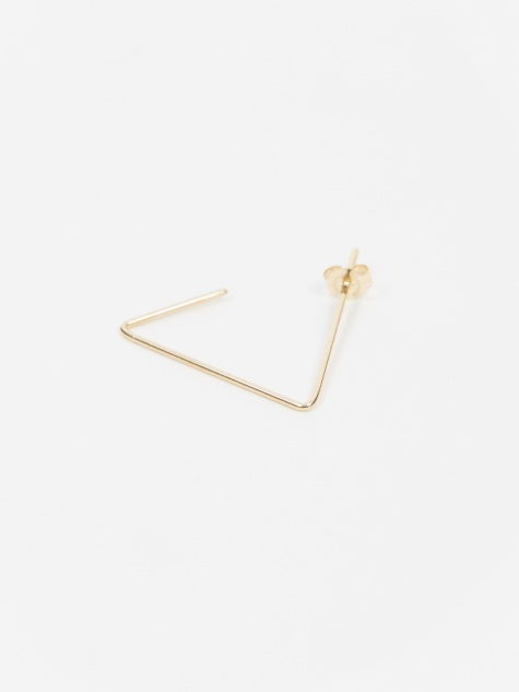 Triangle Big 1/2 Earring - 10K Gold