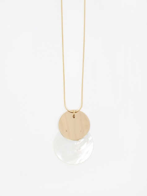 Mother Necklace - Mother Of Pearl/Yellow Gold
