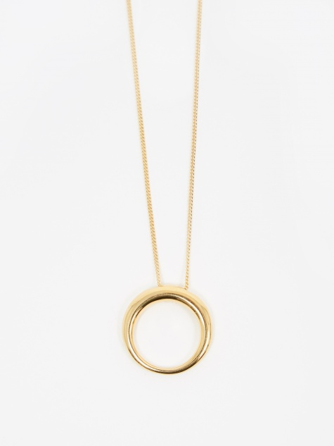 Medium Rising Tusk Pendant - 14K Yellow Gold Pl