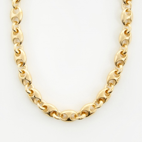 Small Egg Link Choker - 14K Yellow Gold Plated