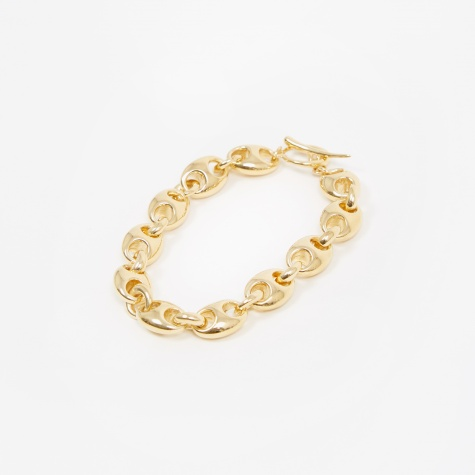 Small Egg Link Bracelet - 14K Yellow Gold Plate