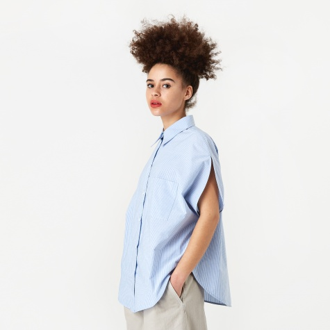Circular Shirt - Blue/White