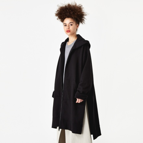 Oversized Hooded Jacket - Black