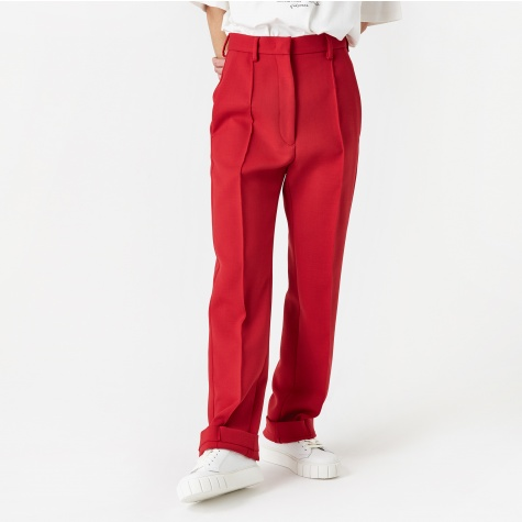 Straight Leg Trouser - Red