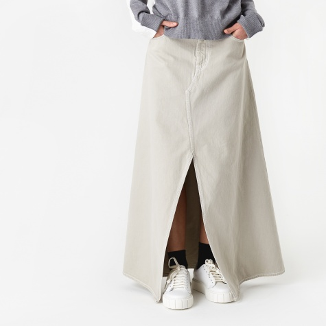 Long Denim Skirt - Ecru