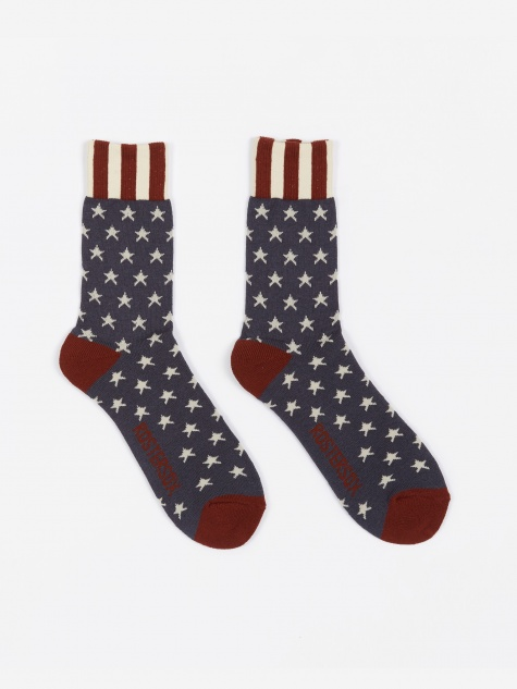 USA Old Socks - Navy Star