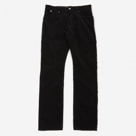 Dweller 5 Pocket Corduroy Jean - Black