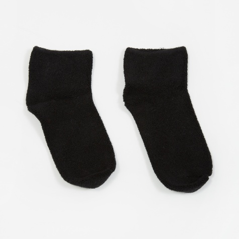 Buckle Over Ankle Cotton Socks - Black