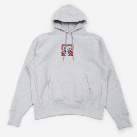 Pullover Hooded Sweatshirt - Grey/Peacock