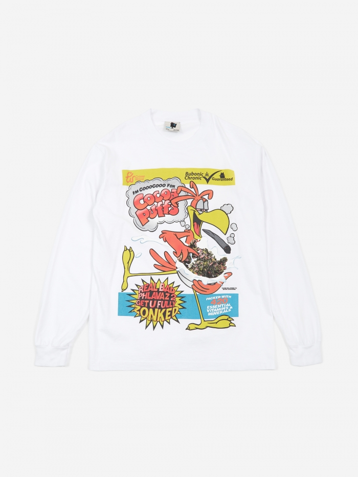 Cooo Cooo Puffs Longsleeves T Shirt   White by Real Bad Man