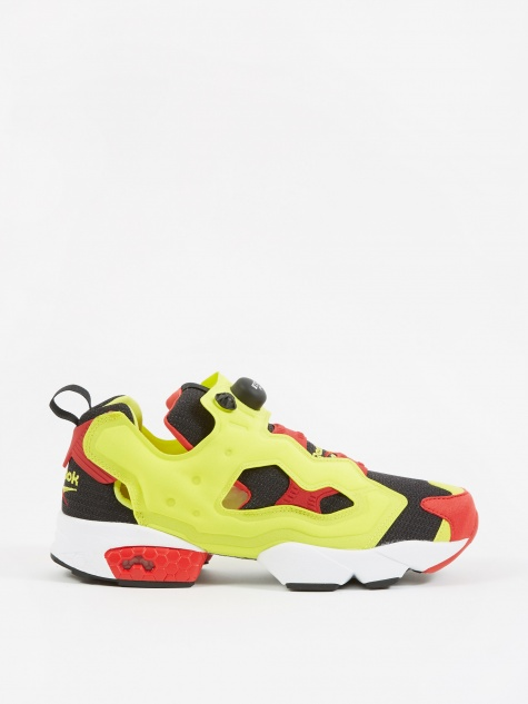 Instapump Fury OG - Black/Hyper Green/Red/White