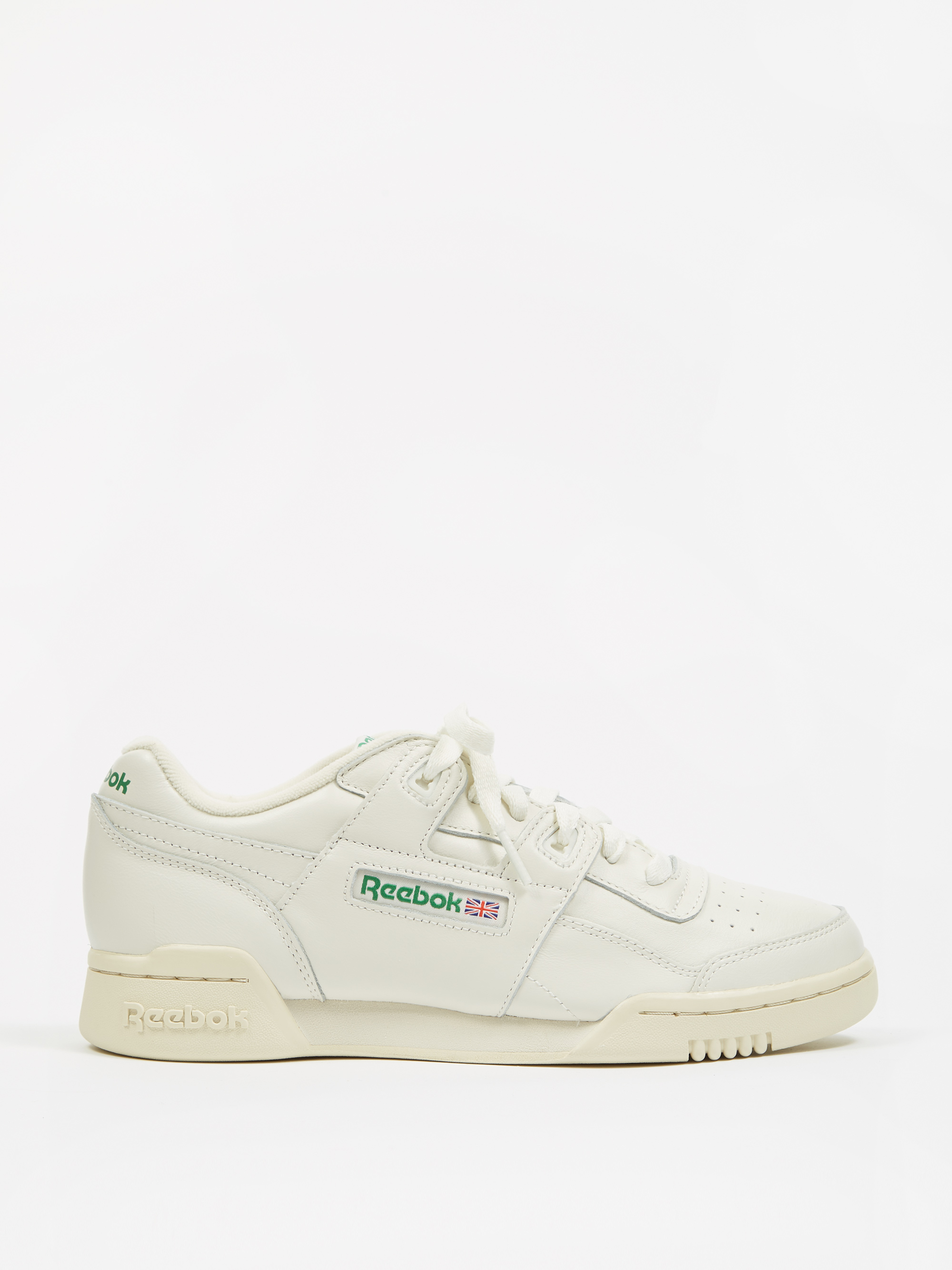 50d20391633543 Reebok Workout Lo Plus - Vintage Chalk Paper White Glen Green