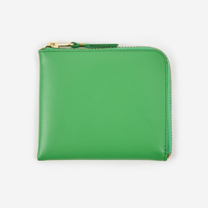 Comme des Garcons Wallets Comme des Garcons Wallet Classic Leather Line S (SA3100) - Green (Image 1)