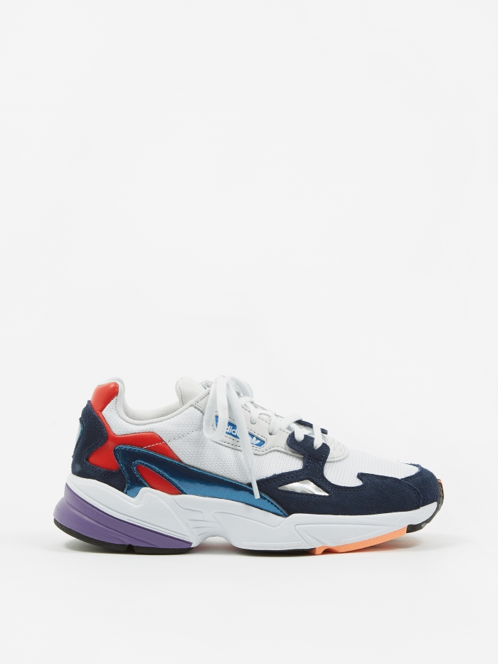 Adidas Falcon - Crystal White/Crystal White/Collegiate Navy (Image 1)