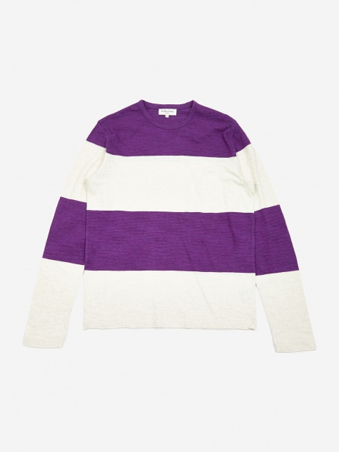 Tom Club Longsleeve T-Shirt - Cream/Purple
