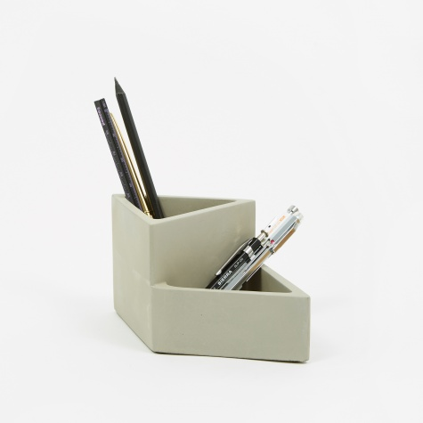 Concrete Pencil Pot - Grey