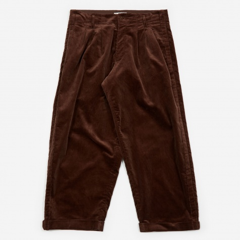 Creole Pleated Trouser - Brown