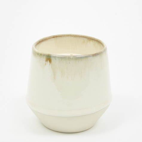 Large Ceramic Candle - Leather, Tobacco, Cardamom