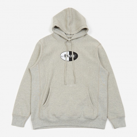 Split Patch Logo Hoodie - Heather Grey