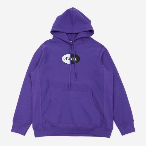 Split Patch Logo Hoodie - Purple
