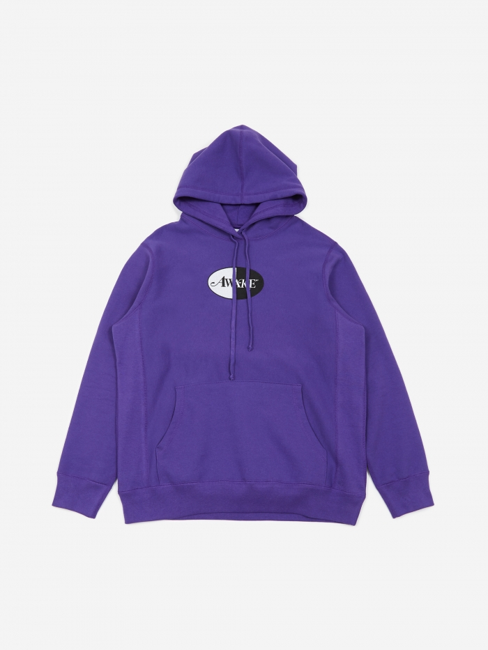 Awake NY Split Patch Logo Hoodie - Purple (Image 1)