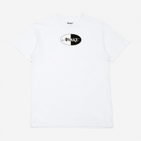 Split Patch Logo T-Shirt - White