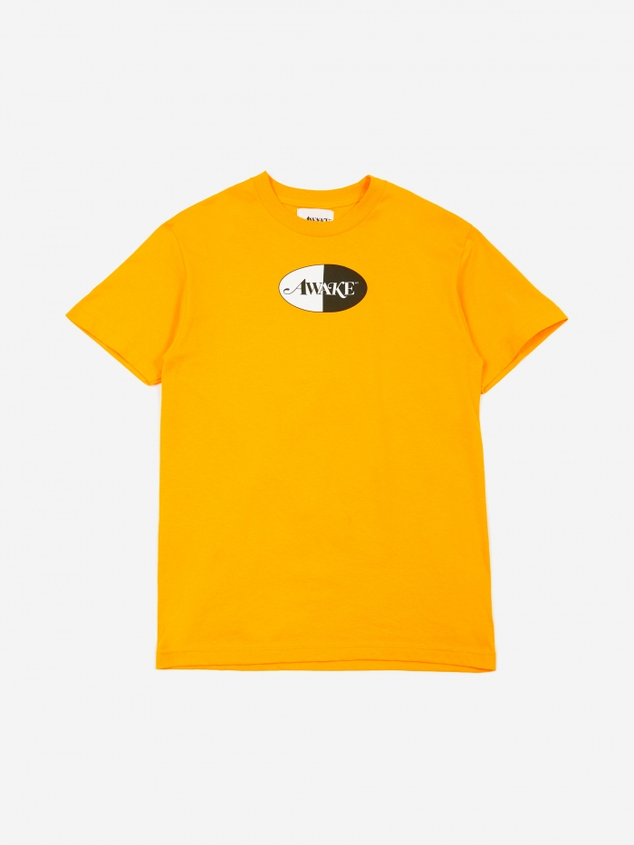 Awake NY Split Patch Logo T-Shirt - Yellow (Image 1)