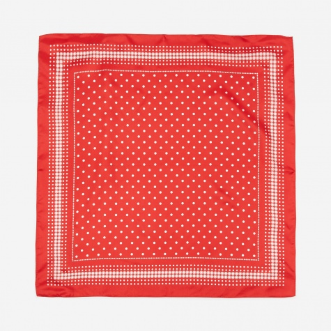 Silk Bandana - Red