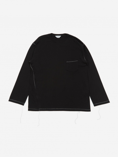 Longsleeve Pocket T-Shirt - Black