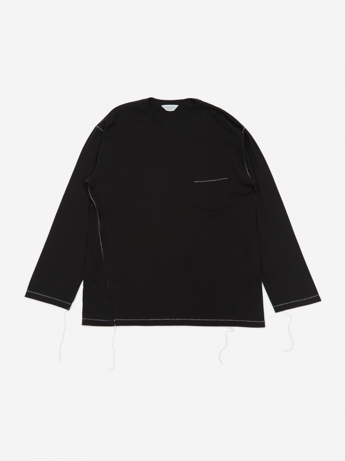 Unused Longsleeve Pocket T-Shirt - Black (Image 1)