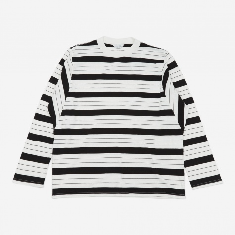 Striped Longsleeve T-Shirt - White/Black