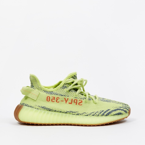 - Yeezy Boost 350 V2 - Semi Frozen Yellow/Raw Steel/Red