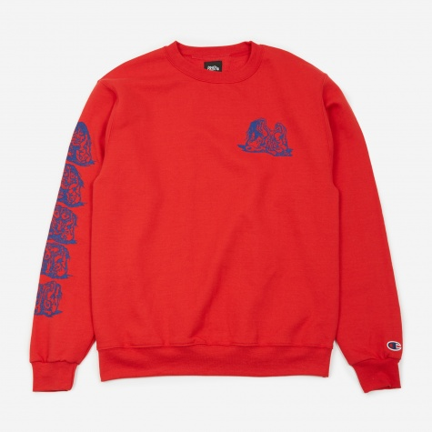 Stone(d) Age Crewneck Sweatshirt - Red