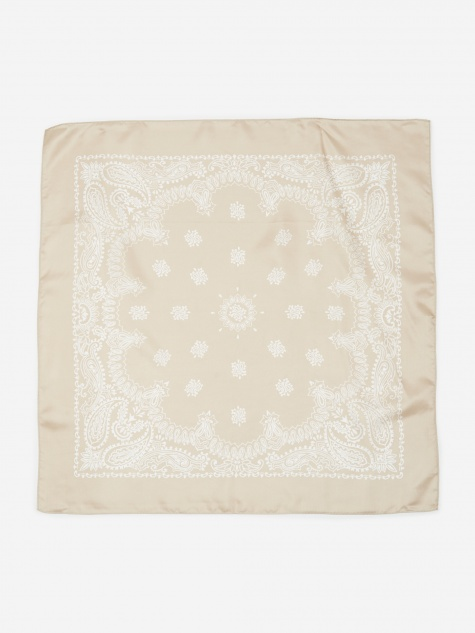 Silk Bandana - Light Beige
