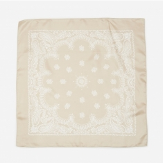 Unused Silk Bandana - Light Beige
