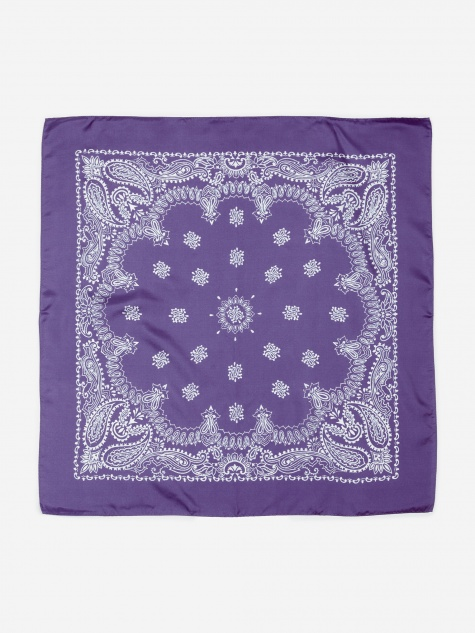 Silk Bandana - Purple