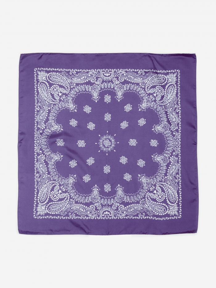 Unused Silk Bandana - Purple (Image 1)