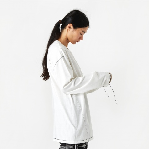 Longsleeve Pocket T-Shirt - White