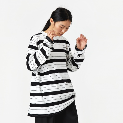 Striped Longsleeve Top - White/Black