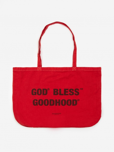 God Bless Tote Bag - Red Overdye