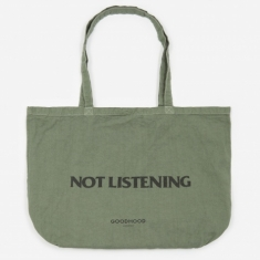 Goods by Goodhood Not Listening Tote Bag - Olive Overdye