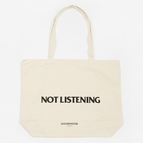 Not Listening Tote Bag - Natural