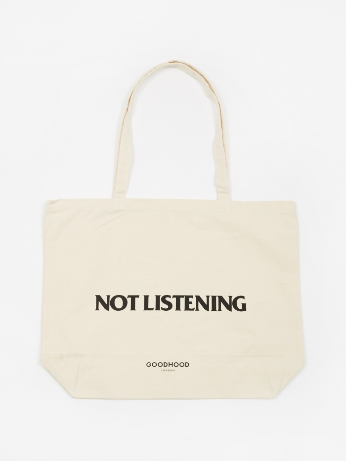 Goods By Goodhood Not Listening Tote Bag - Natural (Image 1)