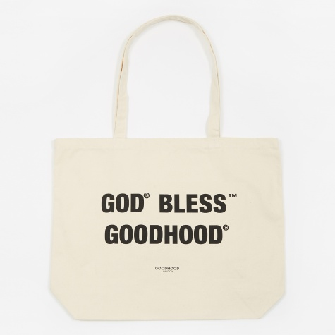 God Bless Tote Bag - Natural