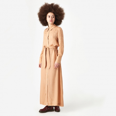 Nija Silk Dress - Dusty Apricot