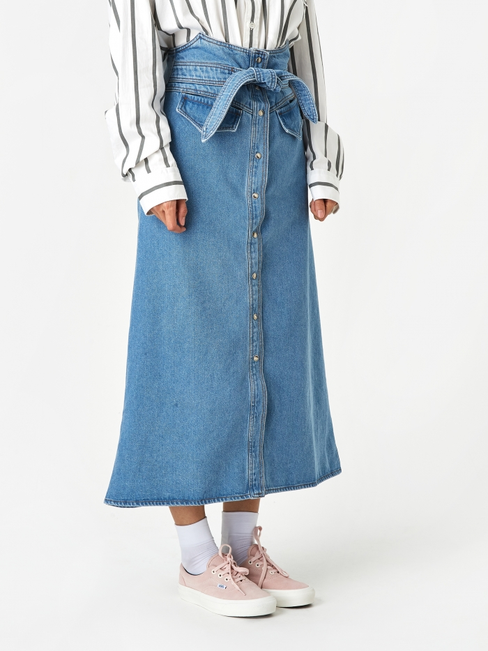 Nanushka Alma Denim Skirt - 90s Blue (Image 1)